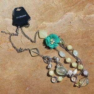 New Long Multi Strand Boho Bead Statement Necklace